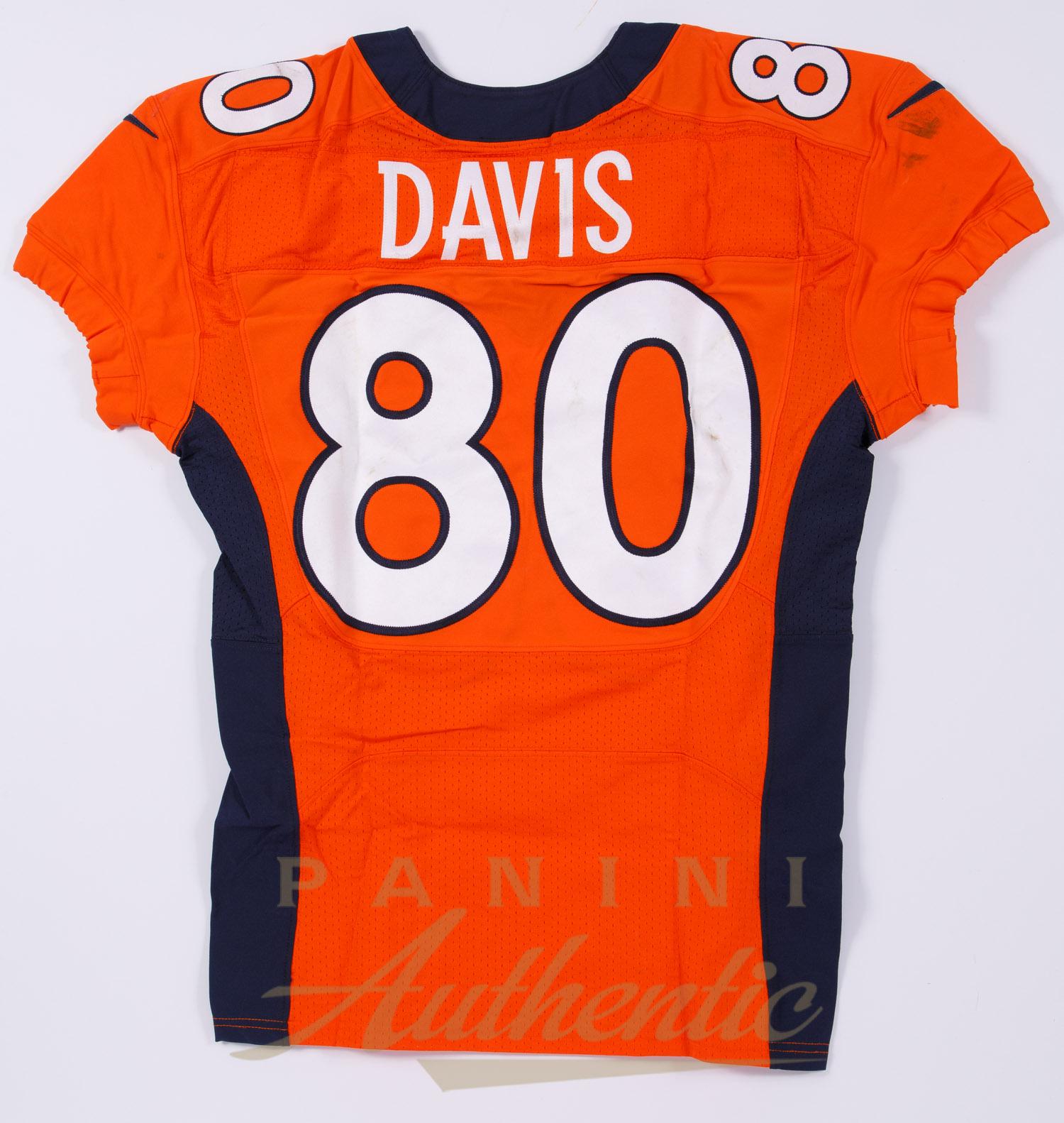 Vernon Davis Game Worn Denver Broncos Jersey/Pant Set From 11/29 ...