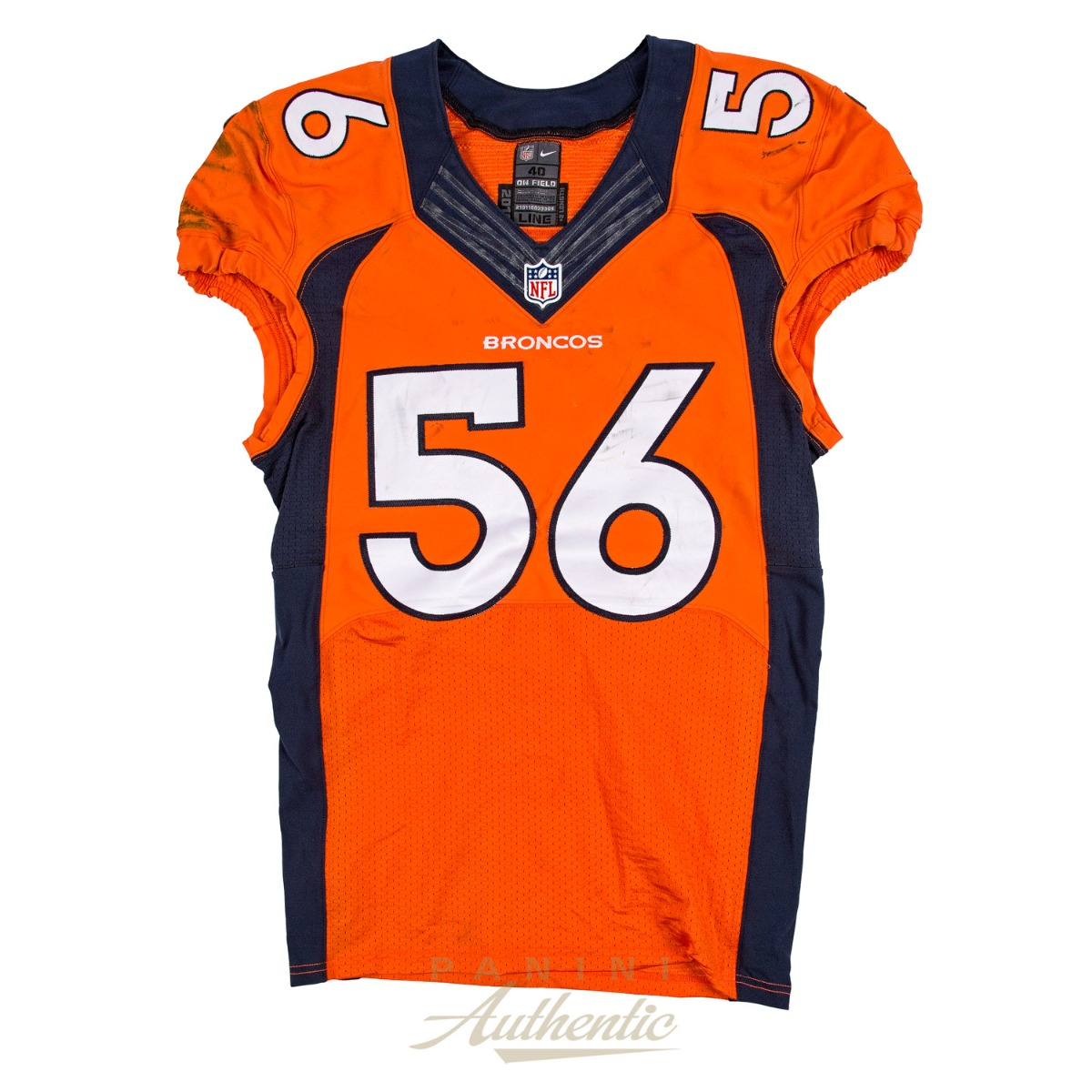 Shane Ray Game Worn Denver Broncos Jersey From 10/9/2016 vs the ...