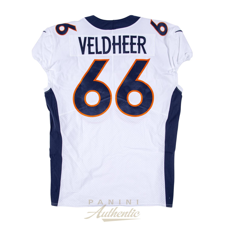 Jared Veldheer Game Worn Denver Broncos Jersey/Pant Set From 9/23 ...