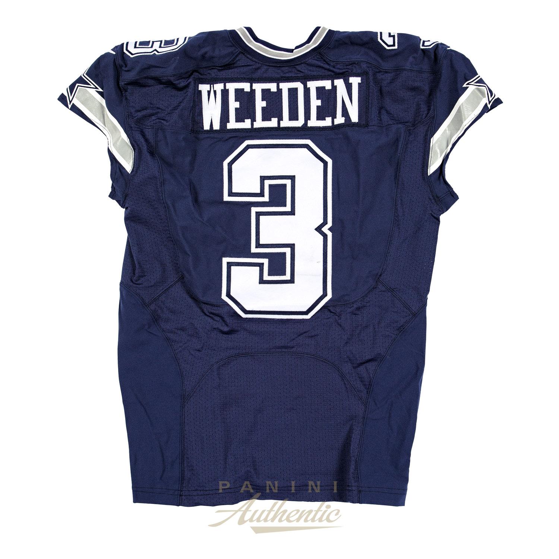 Brandon Weeden Game Worn Dallas Cowboys Jersey From 10/4/2015 vs ...