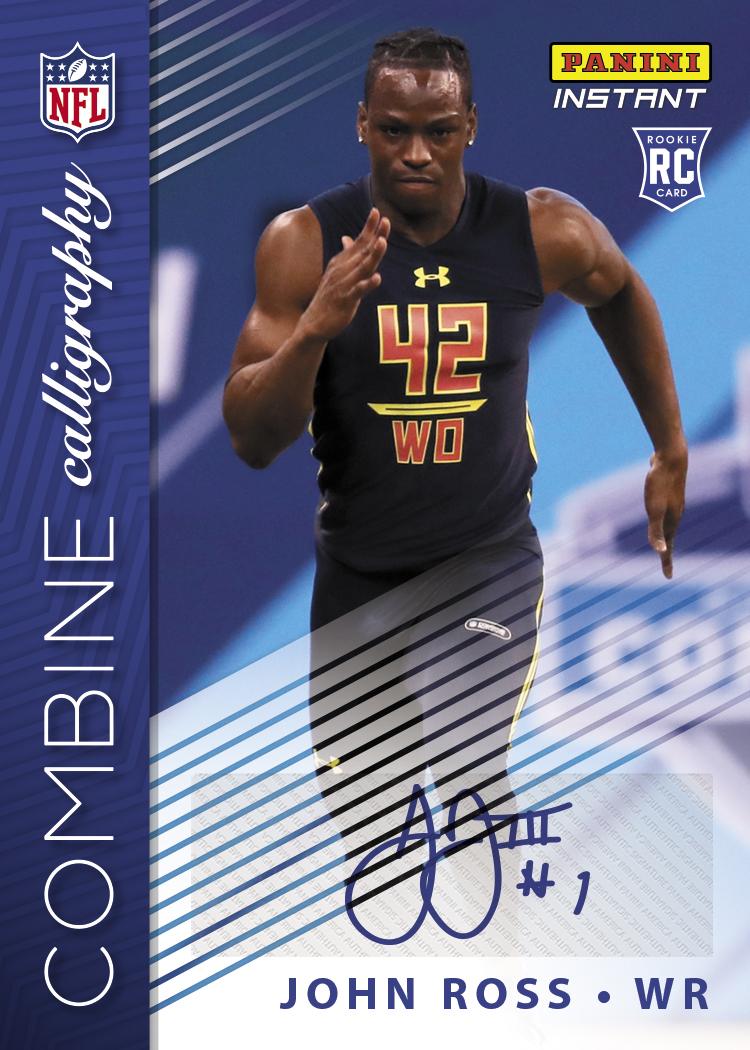 John Ross- 2017 Panini NFL Instant Combine Calligraphy Autographed ...